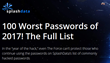 "STARWARS Premieres (as a terrible password!) on SplashData's annual list of ""Worst Passwords of the Year"""