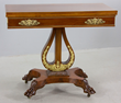 19th C. New York Empire card table with ormolu mounts