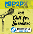 Call for Speakers Now Open Through February for 2018 P2PX