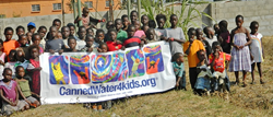 These children in Zambia, Africa were recent beneficiaries of a sustainable clean drinking water system funded by CW4K.