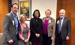 Left to right: NHPCO President/CEO Edo Banach, NHPCO VP of Regulatory & Compliance Judi Lund Person, AseraCare President Angie Sells, CMS Administrator Seema Verma,  CHC President/CEO Mark Murray