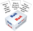 The BUTT HURT Game, a brutally fun card game being played on air by radio stations across the country.
