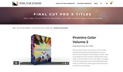 Apple Final Cut Pro Effects - Pixel Film Studios - ProIntro Color Volume 2