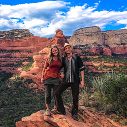 Image of Anahata Ananda & Porangui Carvalho McGrew, co-facilitators of the Shamanic Soul Sedona Retreat