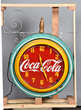 Coca-Cola Neon Clock with Hanging Bracket, Estimated at $25,000-40,000.