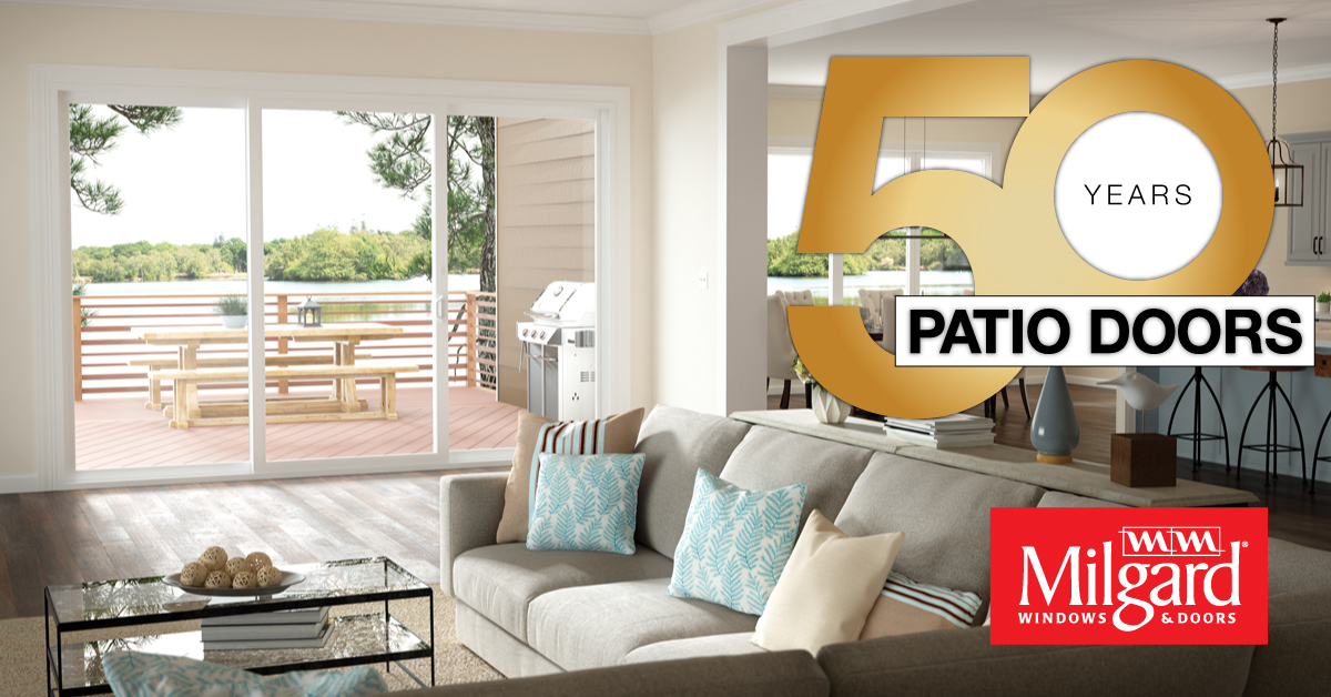 Milgard celebrates 50 years manufacturing quality patio doors for Quality patio doors