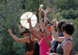 Participants calling in the directions during a Sedona Vortex Medicine Wheel Journey.