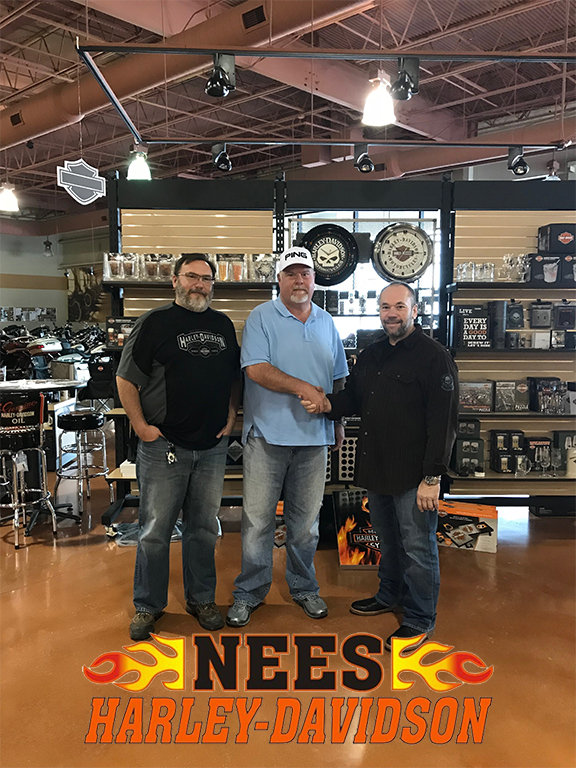 nees harley davidson in galesburg illinois sells with help from george chaconas of performance. Black Bedroom Furniture Sets. Home Design Ideas