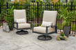 Lyndale Swivel Rocking Chair with Cast Ash Cushions
