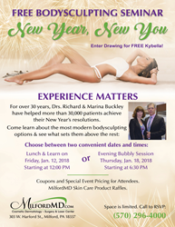 2018 New Year, New You BodySculpting Seminar in January at MilfordMD
