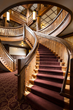 Helical Staircase at Many Glacier Hotel