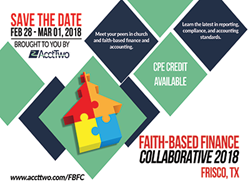 AcctTwo's Faith-Based Finance Collaborative 2018