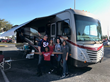 The Ultimate Buccaneers RV Tailgating Sweepstakes winner, Stephanie Ladmirault, and her guests.