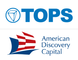 TOPS Software and American Discovery Capital logos