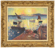 "Hayler Lever (American, 1875-1958) ""Fishing Boats - Sunrise"", estimated at $50,000-100,000."