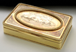 Gold Tiffany Presentation Snuff Box Presented by the Citizens of Buffalo to Lt. John Worden, Hero of the Victory of the Monitor Over the Merrimac, estimated at $30,000-50,000.