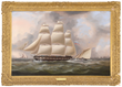 James E. Buttersworth (American/British, 1817-1894) Portrait of the Merchant Ship Dolphin Off Portsmouth England, estimated at $10,000-15,000.