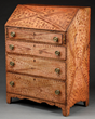 Exceptional Grain Painted Slant Lid Pine Desk Signed George Pierce, Manlius, New York, estimated at $8,000-12,000.