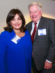 Charlotte St. Martin, President of The Broadway League; Robert E. Wankel, Chairman of The Broadway League and President of The Shubert Organization