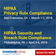 ComplianceOnline's Upcoming HIPAA Compliance Seminars (HIPAA Privacy Rule Compliance and HIPAA Security and Breach Rule Compliance)