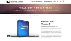 ProIntro Web Volume 7 - Pixel Film Studios - Final Cut Pro X Intros