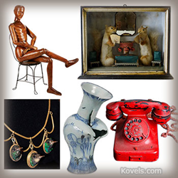 kovels, antiques, collectibes, prices, unusual antiques