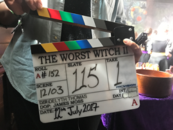 Filming series 2 of The Worst Witch at Adlington Hall