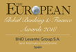 BND Levante Group S.A. has been awarded for Best Alternative Investment in Spain by The European Global Banking & Finance Awards 2018