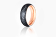 Carbon Gold Ring by Carbon 6, with Rose Gold