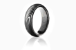 Driftwood Damascus Ring with Forged Carbon Fiber, by Carbon 6