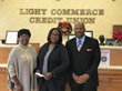 AACUC Chairman Anderson and Board Secretary Montgomery providing holiday cheer to victims of Hurricane Harvey