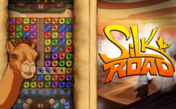 Screenshot and poster for Silk Road Match 3