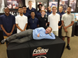 Findlay Toyota General Manager John Barr is seen hamming it up with Findlay Prep at the Southern Nevada Sports Hall of Fame.