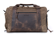 Atlas Executive Athletic Holdall—shown in tan waxed canvas with full-grain, chocolate leather details