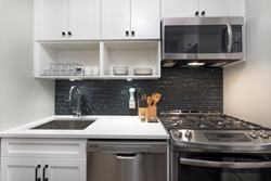 Newly remodeled kitchen in Midtown East's Galleria Building