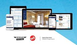 GuestCentric winner. Santa Clara website design award