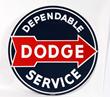 Dependable Dodge Service Porcelain Sign, estimated at $3,000-4,500.