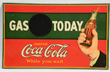 Coca-Cola Gas Today Embossed Tin Sign, estimated at $8,000-12,000.