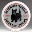 The Petroleum Products Co. Kansas Made Dog on Good Gasoline Globe, estimated at $12,000-20,000.
