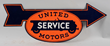 United Motors Service Diecut Porcelain Arrow Sign, estimated at $5,000-8,000.