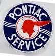 Pontiac Authorized Service Porcelain Sign, estimated at $6,000-9,000.