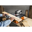 WORX BladeRunner Crosscut Sled slides on a center groove for a perfectly aligned cut.