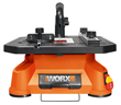 Besides rip cuts and crosscuts, the WORX BladeRunner also makes scroll, inside and miter cuts using 4-in., T-shank jigsaw blades.