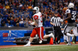 Marcus Martin (Slippery Rock) hauls in a 4-yard touchdown pass for the East squad with 2:02 left in the third quarter of the 93rd East West Shrine Game at Tropicana Field in St. Petersburg, Fla.