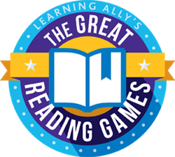 Image of award and the text great reading games