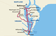 American Revolution Cruise Itinerary Map