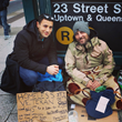 Nick with a homeless veteran