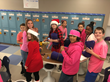 Students from Love Creek Elementary Preparing Blankets