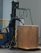American Fiberglass Tank Repair technician making custom tank in our fabrication facility.
