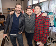 Actors Jon Hamm and Ethan Hawke at the Music Lodge Gifting Suite during Sundance Film Festival.